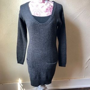 Cotton On Tunic Length Sweater S Charcoal